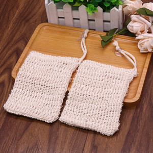 9*14cm Cotton linen soap bag beam mouth type environmental protection handmade soap foaming net storage bag soap storage bag