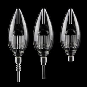 Super Big 510 Thread 8 Arm Tree Perc Mini Glass Hand Pipes With Titanium Quartz Ceramic Tips Nail Glass Water Bongs Pipes