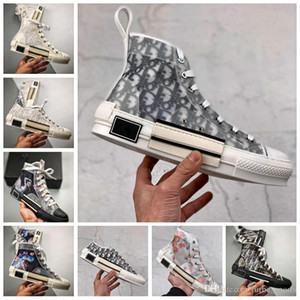 20ss New Flowers Technical Canvas B23 High Top Luxury Sneakers vintage platform in Oblique Mens B24 Womens Fashion Boots Designer Shoes