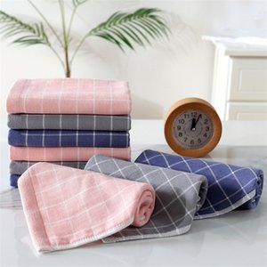 Pure Cotton Children's Towel Plaid Gauze Baby Children Saliva Towel Nursery Handkerchief Towel Wholesale