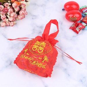 bag red Non-woven boxes Handbag candy box egg shell non-woven candy box wedding birthday celebration wedding handbag