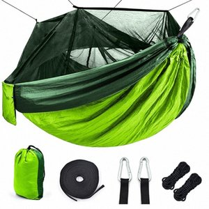 Outdoor Mosquito net camping Hammock 1-2 Person Parachute picnic Hammock Portable Hanging Hunting Sleeping Swing WSFX#