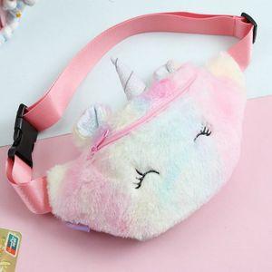 2016 Fanovo Kids Girls Cute Fanny Pack Unicorn Waist Bag Plush Belt Bag Chest Bag Small Shoulder Plush 1 Purple 619P078Mipl Fanovo EGWlQ