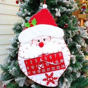 Рождественский календарь Адвента Карманы войлок Дети Гобелен Новогодние украшения отсчет Для дома Новый год Adornos De Navidad 1JSy #