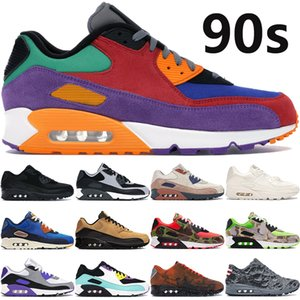 2020 new 90s men women running shoes university red Hyper Grape OG reverse duck camo Hyper Grape triple black white maxes cushion sneakers