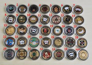 Les pièces commémoratives banquier métal porcelet étoiles Card Guard Protector Metal Craft jetons de poker jeu de poker Hold'em Accessoires Livraison gratuite