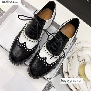 Mixed Color Womens Winged Oxford Lace Up Striped Platform Metallic Vintage Platform Bullock Flat Female Shoes Woman 40