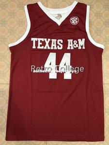# 44 Robert Williams Texas Tech College Retro En Dikişli basketbol formaları herhangi bir sayıda özelleştirme ve Formalar yelek XS-6XL isim dikişli