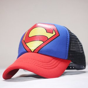 garçons coréens mode et les filles casquette de baseball net enfants chapeau de danse de rue capbaseball caphat chapeau Superman