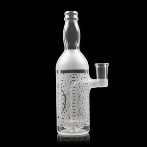 "Novità del Rig Glass Bong Dab Water Pipes 7"" alto 14 millimetri femminile comune vetro sabbiato acqua Bong For Smoking"