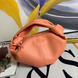 2020 Il nuovo modo di moda nuvola pacchetto vera pelle delle donne pieghettata polpetta sacchetto della maniglia del sacchetto sottobraccio polpetta sacchetto di annodatura