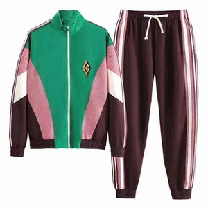 Men Fashion Casual Clothing Sets Sportswear Active Two-piece Set with Letters Trendy 2019 Autumn and Winter New Womens Tracksuits