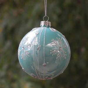 Kırmızı Cam Noel Günü Dekorasyon Hediyelik Parti'yi Paketleme Açık Mavi Serisi Noel ağacı kolye Big El Craft Boyama Malzemeleri