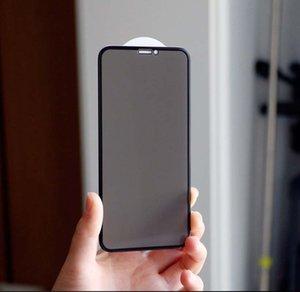 İPhone 11Pro Max / 11Pro / 11 / XS Max X / XS Gizlilik Filtresi Ekran Koruyucu çizilmeye karşı Kırılmaz Camdan için Film Koruma Tam Ekran Gizlilik
