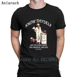 Pythagoras Know Thyself Apparel And Accessories T Shirt Cotton Simple Pictures Customize Cheap Hip Hop Shirt Spring Solid Color