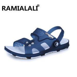 Ramialali Verão Sandals Men Fashion Designers Sandalias Hombre Praia Sandálias Marca Chinelos PVC de Homens para Homens Zapatos