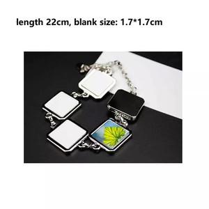 Sublimation leeres Armband personalisierte Modeschmuck Blüte geformt Armband DIY Link-Legierung Armband Metall Armreif für Frauen