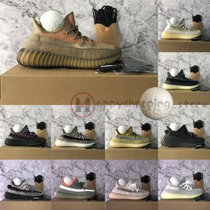Adidas Yeezy Boost 350 Tamanho 13 Box Chaveiros Kanye West Cinder linho Israfil Oreo Marsh Terra Linho Zyon Running Shoes Mens Mulheres Reflective formadores preto Sneakers