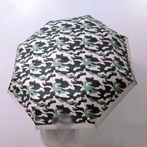 Fashion Camouflage Automatic Umbrellas G Letters Designer Folding Umbrellas 3 Fold Luxury Umbrella With Gift Box