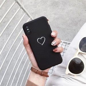 Cute Simple Love Heart Cases For Xiaomi Redmi Note 9S 4 4X 5 5A 6 7 8 8T Pro 3S 4A 4X 6 6A S2 Plus 7A 8A Case Silicone Cover