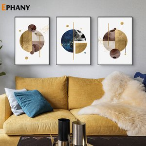 Geometry Round Abstract Wall Art Canvas Poster and Print Modern Artwork Picture Painting Nordic for Living Room Home Decor