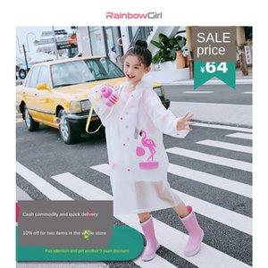 Moxzk Bag Cloak Raincoat Students 'School Impermeabile Transparent Primary Girls' Raincoat Cloak Baby Children Big Poncho WI VQCG