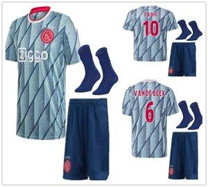 20 21 adult Ajax soccer jersey kit PROMES ALVAREZ Ajax away football shirt 2020 2021 VAN DE BEEK TADIC ZIYECH men set uniform