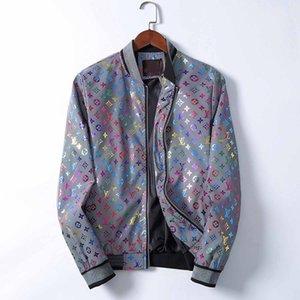 Männer Medusa Jacken Langarm-Reißverschluss-Jacken-Mode-Muster-Druck Slim Fit Windjacke Herren antumn Winter-Outdoor Coats
