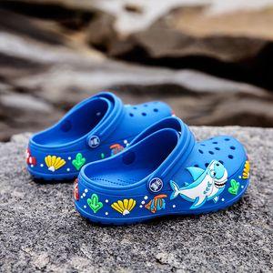 Crianças Verão bonito dos desenhos animados Sandals Quick-seco Praia Tamancos Chinelos leve e antiderrapante resistente ao desgaste Boy Girl deslizamento-em sapatas