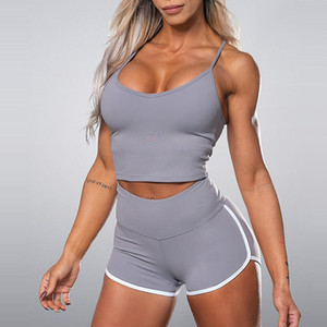 Sexy Sports Sets Women Gym Clothes Sports Sets Short Sport Suit Women 2 Piece Yoga Set Womens Clothing Bra Active Wear