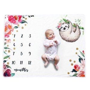 Newborn Baby Girls Boys Blanket Milestone Photography Photo Props Cloth Cute Cartoon Animal Toddler Memorial Day Photography