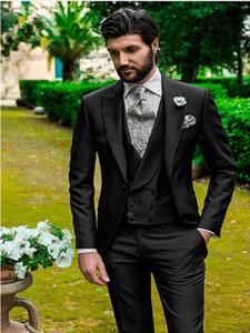 Classic Peak Lapel tuxedos groom wedding men suits mens wedding suits tuxedo costumes de pour hommes men(Jacket+Pants+Tie+Vest) W152