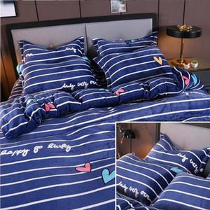 Yanting Home Textile Printed Flanell-Vlies aus 100% Microfaser Bettwäsche Bettbezug Kissen Fall 3pc Frühlings-Herbst-Winte