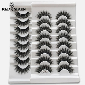RED SIREN 8 Pairs Faux 3D Mink Lashes Natural Long False Eyelashes Volume Fake Lashes Makeup Extension Eyelashes maquiagem
