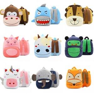 Zaino bambini Borse alleviare eccessivi oneri Bag Plush Zaini Kindergarten Early Learning Parco Schoolbag Serie zoo Carino 16by B2