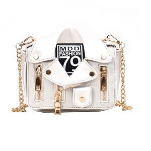 Fashion Women Chains Shoulder Bag Coat Hip-hop Rock Zipper PU Handbag Ladies Girls Casual Vintage Jeans Crossbody Messenger Bags