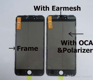 4 in 1 Cold Press Pre-install Front Glass with Frame+OCA +Polarizer for iPhone 6G 6S 7G 7P Cracked LCD Screen Replacement