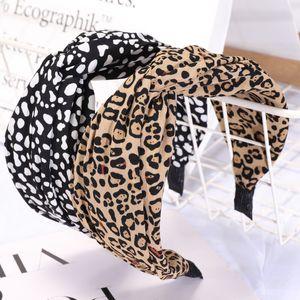 Spring Summer 2020 New Leopard Print Black and White Nodding Headband Cross Hairband Fashion Hairband WY1416