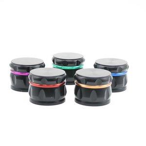 Drum Shape Herb Spice Grinders 63mm Metal Aluminum Alloy Mini Handheld Tabacco Pollen Grinder Crusher DDA268