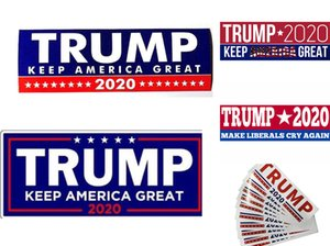 5 New Styles Donald Trump 2020 Car Stickers 7.6*22.9cm Bumper Sticker Keep Make America Great Decal for Car Styling Vehicle Paster