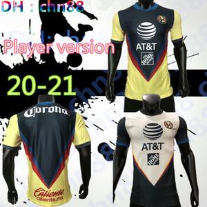 플레이어 버전 G. 도스 산토스 (20) (21) 집에 미국 노란색 저지 축구 R.SAMBUEZA의 P.AGUILAR 2020 2021 멀리 멕시코 클럽 축구 셔츠 여성