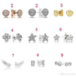 Fashion 925 Sterling pure Sliver Earrings Stud Wedding Jewelry Accessories Mother day Valentine gift