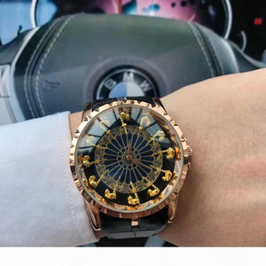 A Luxury Limited 12 Knights Of The Round Table Knight Luxury Designer Men &#039 ;S Watch Fashion Top Quality Quartz Black Leather Milit
