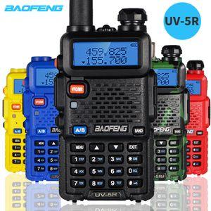 2pcs Baofeng UV5R Walkie Talkie 5W portátil CB Radio BF-UV5R Dual Band VHF / UHF Transceptor UV 5R Two Way Hunting Ham Rádios