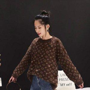 Camisola feminina fundo de outono e inverno fora desgaste unlined superior celebridade vestuário web com o mesmo casaco de malha solta pequeno perfumado