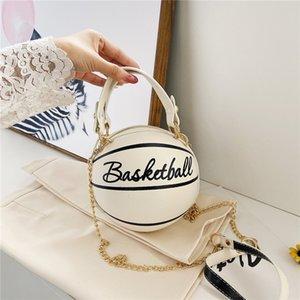 Rodada Bolsas por Mulheres Cadeia Messenger Bag Lady Futebol Basquetebol Forma Moda Criativa Tote Mulheres Adorável Bolsa de Ombro