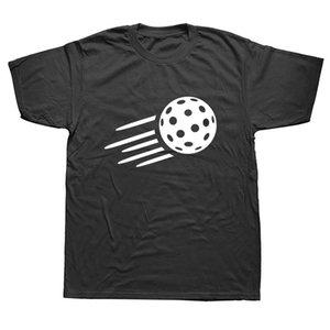 Floorball cumpleaños de t camisas de los hombres de verano de algodón de manga corta de Harajuku O Cuello Negro Streetwear camiseta