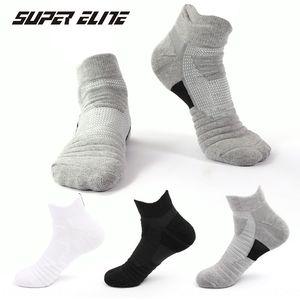 Men's sports sweat-absorbing anti-skid running outdoor towel bottom short barrel elite basketball men boat Socks Towel boat Socks