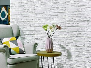 10PCS 3D Wall Stickers Imitation Brick Bedroom Decor Waterproof Self-adhesive Wallpaper Living Room Kitchen TV Backdrop Decor