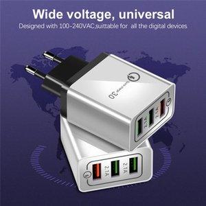 US-EU-3 Port Charging Schnell-Mobile-Handy EU QC3.0 USB-Ladegerät-Stecker-Adapter